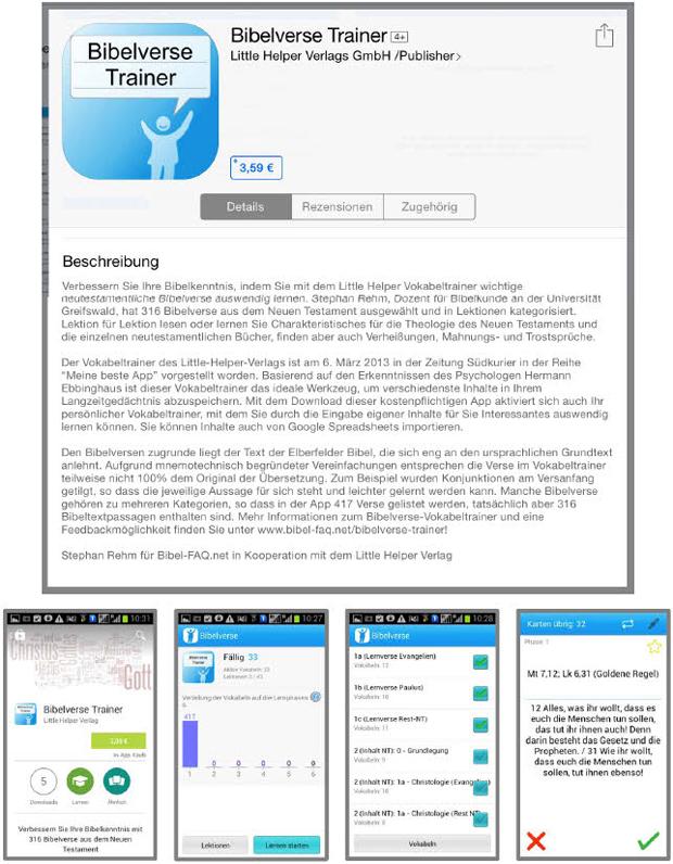Screenshots aus den AppStores